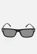 CALVIN KLEIN JEANS - Contour matte sunglasses - black