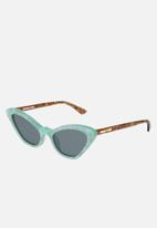 McQ - Mq0189s-003 52 sunglasses - blue & brown