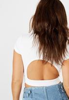 Factorie - Cutout back tee - white