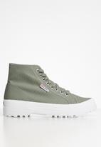SUPERGA - 2341 alpina classic boot - green sage