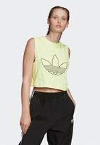 adidas Originals - Fakten cropped tank - yellow