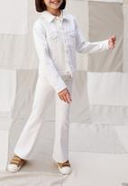 MANGO - Jeans flare - white