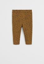 MANGO - Leggings terry - brown & black