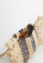 MANGO - Bag arpi - beige & blue