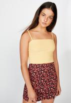Factorie - Ribbing cami - tempura yellow