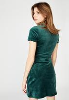 Factorie - Velvet  split skirt - ponderosa pine