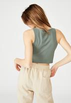 Factorie - Button through tank - forrest khaki