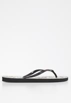 POLO - Leopard flip flop - neutral & black