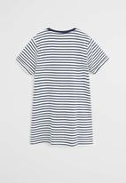 MANGO - Dress raya - navy & white