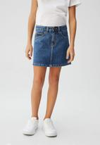 MANGO - Skirt sue  - blue