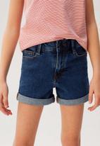 MANGO - Shorts chip - blue