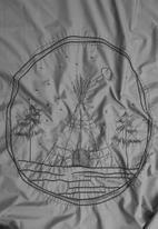 Sheraton Textiles - Night sky embroidered duvet cover set - grey