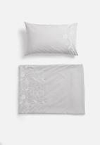 Sheraton Textiles - Cosmic embroidered duvet cover set - grey
