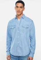 JEEP - Denim long sleeve shirt - stone
