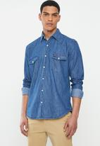 JEEP - Dark denim long sleeve shirt - navy