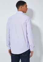 Superbalist - Jos slim fit long sleeve shirt - purple check