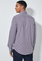 Superbalist - Jos slim fit long sleeve shirt - purple pattern