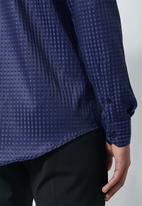 Superbalist - Jos slim fit long sleeve shirt - royal blue