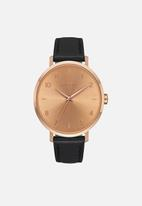 Nixon - Arrow leather - rose gold / black