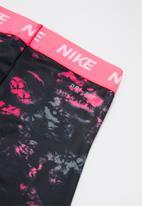Nike - Nike jdi rainbow wash legging - black & pink
