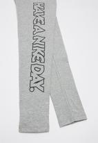 "Nike - Nike ""have a nice day"" legging - grey"