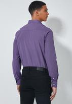 Superbalist - Jos slim fit long sleeve shirt - purple stripe