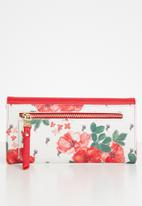POLO - Freedom floral clutch purse - red