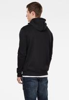 G-Star RAW - Premium hooded zip through sweater - black
