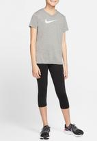 Nike - Girls Nike dri tee leg v-neck swoosh - carbon heather