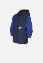 Nike - B nsw woven jacket  - midnight navy/game royal/white