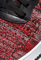Nike - Air Force 1 flyknit 2.0 - University Red/Black/Wolf Grey/White
