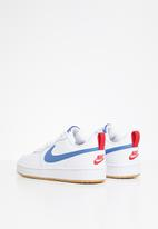 Nike - Nike court borough low 2 - white/pacific blue-university red