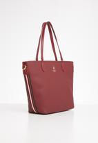 POLO - Synthetic tote bag - burgundy