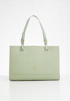 POLO - Synthetic e/w tote bag - green
