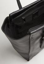 POLO - Vega leather small tote - black