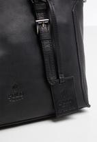 POLO - Vega leather shopper - black