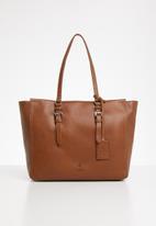 POLO - Vega leather tote - brown