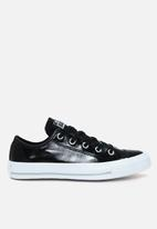 Converse - Chuck Taylor All Star crinkled patent leather lo  - black
