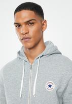 Converse - Core full zip hoodie - grey
