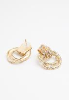 Superbalist - Diamante encrusted hoops - gold
