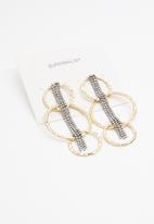 Superbalist - Triple hoop earrings - gold & silver