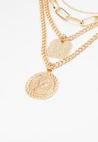 Superbalist - Disc layered necklace - gold