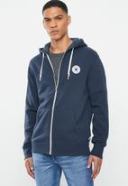 Converse - Core full zip hoodie - navy