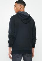 Converse - Core french terry fz hoodie - black
