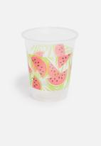 Sixth Floor - Watermelon plastic cup set - multi