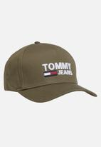 Tommy Hilfiger - Tommy jeans logo cap - olive green