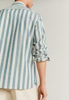 MANGO - Riley shirt - beige & khaki