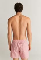 MANGO - Seerblue swimming trunks - red & white