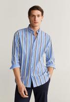 MANGO - Sitges shirt - blue
