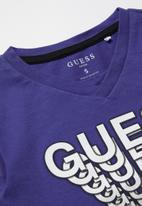 GUESS - Long sleeve Guess shadow tee - blue